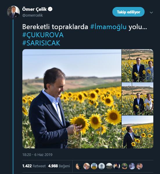 Ömer Çelik'in İmamoğlu tweeti