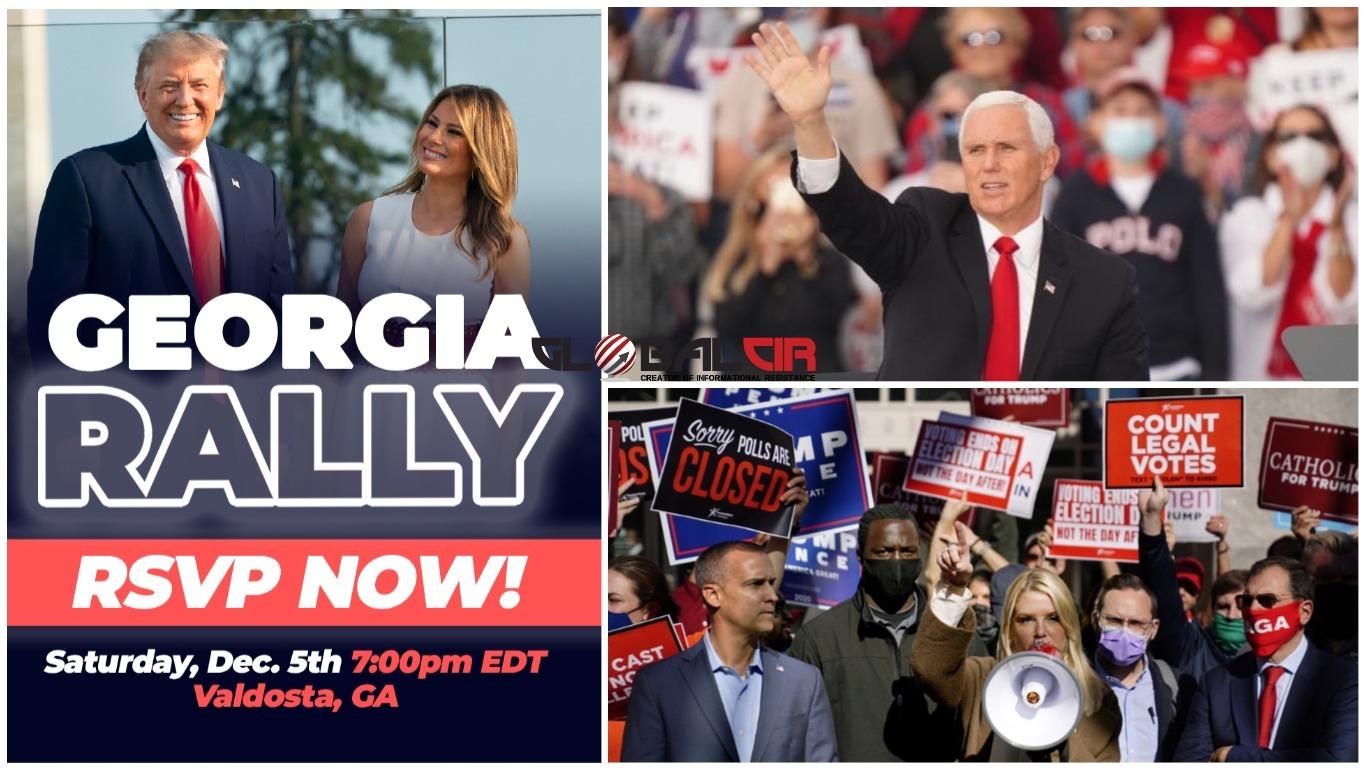 """UOČI VELIKOG MITINGA U GEORGIJI! Trampova kampanja podnijela tužbu kojom osporava više od 100.000 glasova, potpredsjednik Pence poručio: """"Zadržat ćemo Georgiju, spasit ćemo Senat, a zatim ćemo spasiti Ameriku"""""""