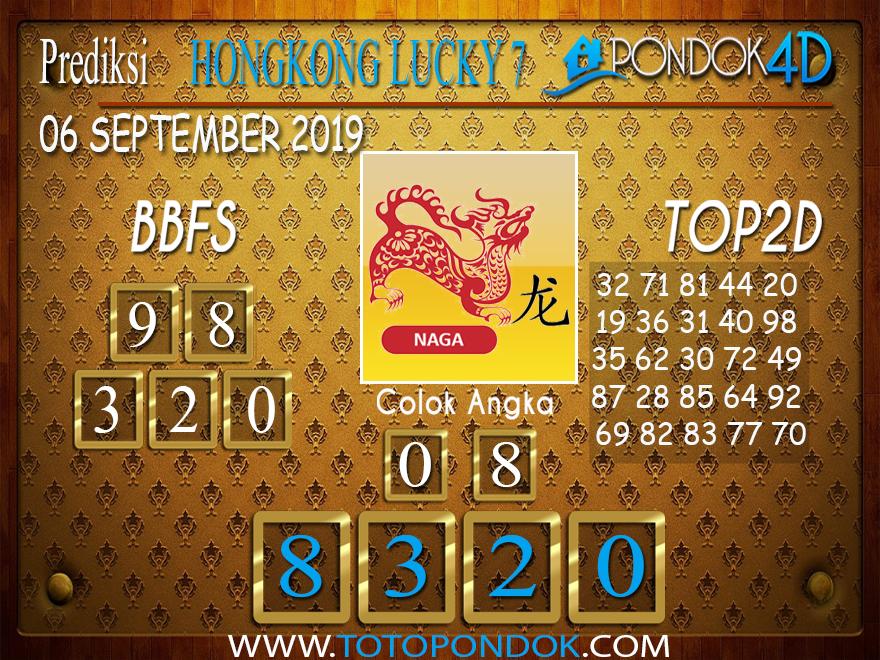 Prediksi Togel HONGKONG LUCKY 7 PONDOK4D 06 SEPTEMBER 2019