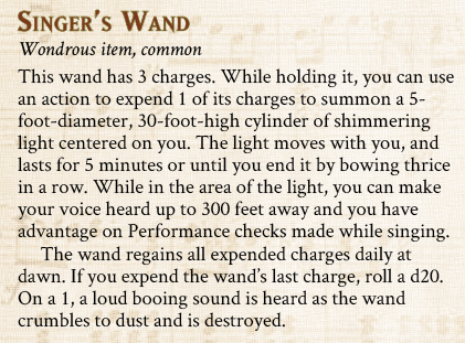 Singer's Wand item preview
