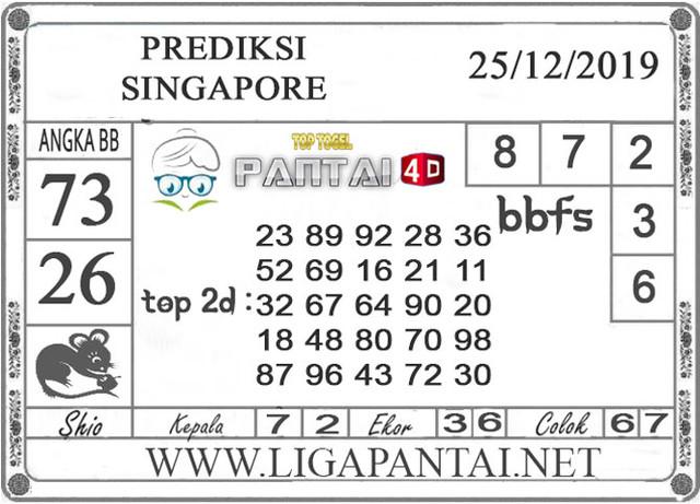 PREDIKSI TOGEL SINGAPORE PANTAI4D 25 DESEMBER 2019