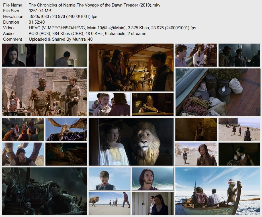 The Chronicles of Narnia(Trilogy)1080p x265 10Bits