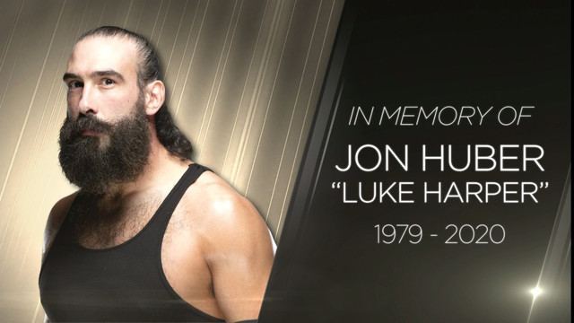 Homenaje de WWE a Luke Harper Brodie Lee Jon Huber