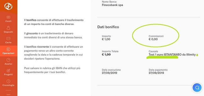 Illimity PROMOZIONE 25,00€ DI BENVENUTO + 25,00 €/invito Scadenza 20/02/2020 + interessi fino 2% 2019-Set27-bonifico-Istantaneor