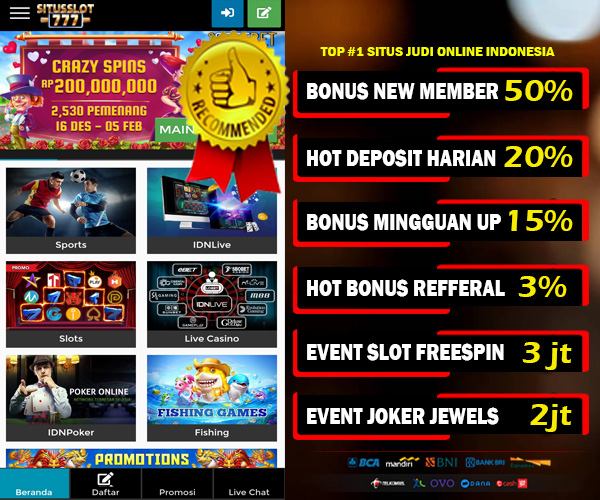 Deposit Bonus Casino Id 2021 Untuk Pendaftaran