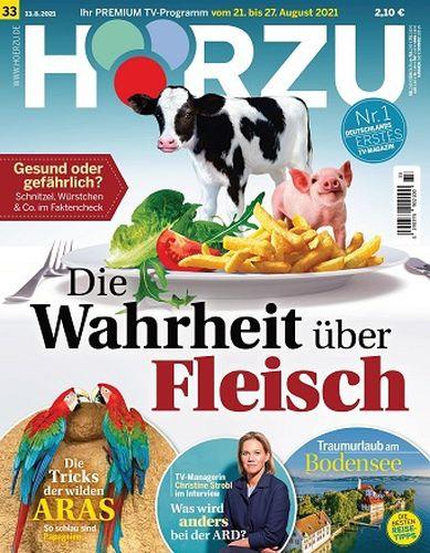 Cover: Hörzu Fernsehzeitschrift Magazine No 33 vom 13  August 2021
