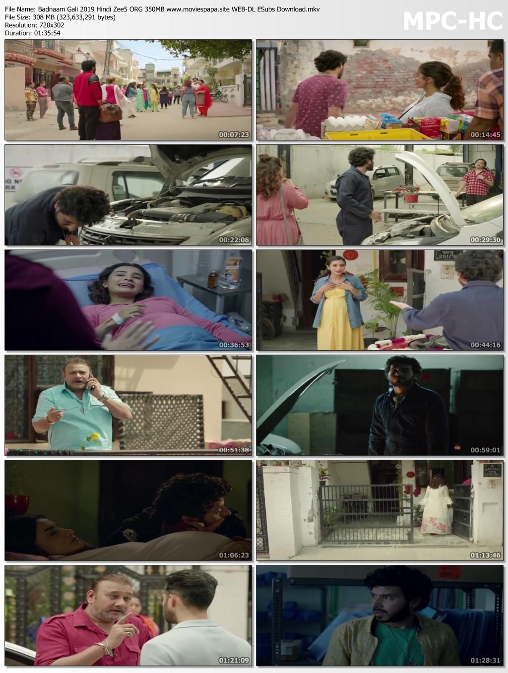 Badnaam Gali 2019 Hindi Zee5 ORG 350MB WEB-DL ESubs Download