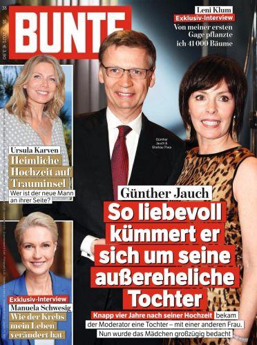 Cover: Bunte Magazin No 38 vom 16  September 2021