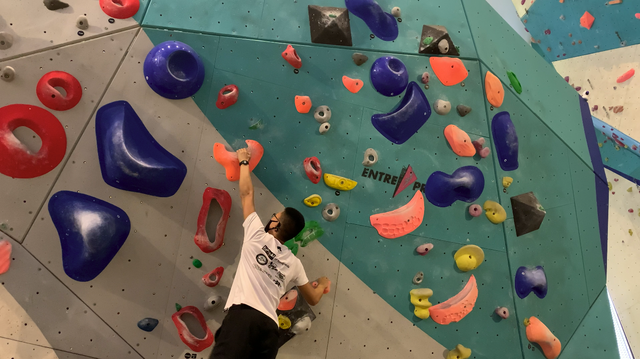 Climbing session at The Rock School