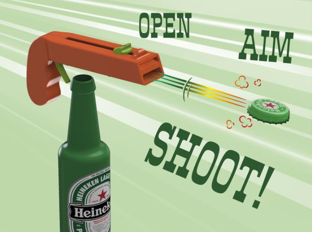 Bottle Opener and Cap GUN - Cool Things to 3D Print