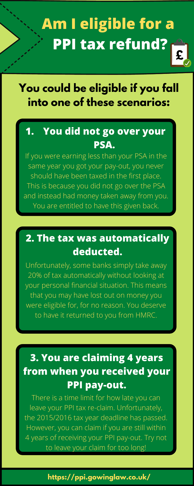 Am i eligible for tax returns infographic