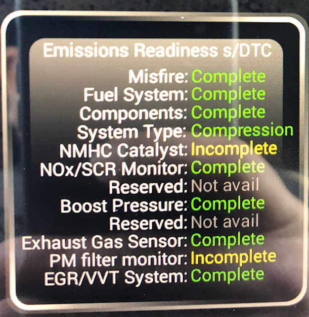 x5 35d emission readiness (2 monitors not ready) - XBimmers