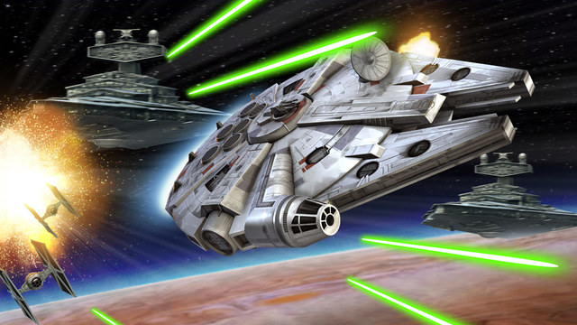 Star Wars Galaxy Of Heroes The Millennium Falcon Speeds Into