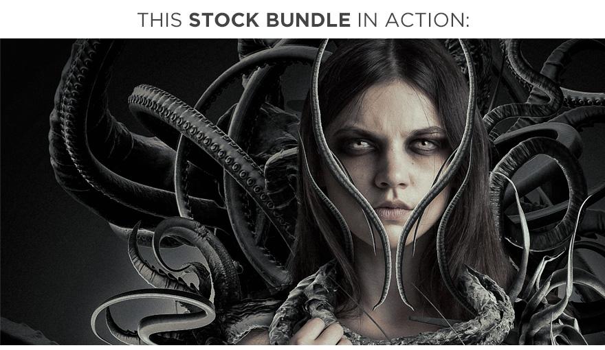 ultimate tentacle bundle stock photography organic artwork demo neostock