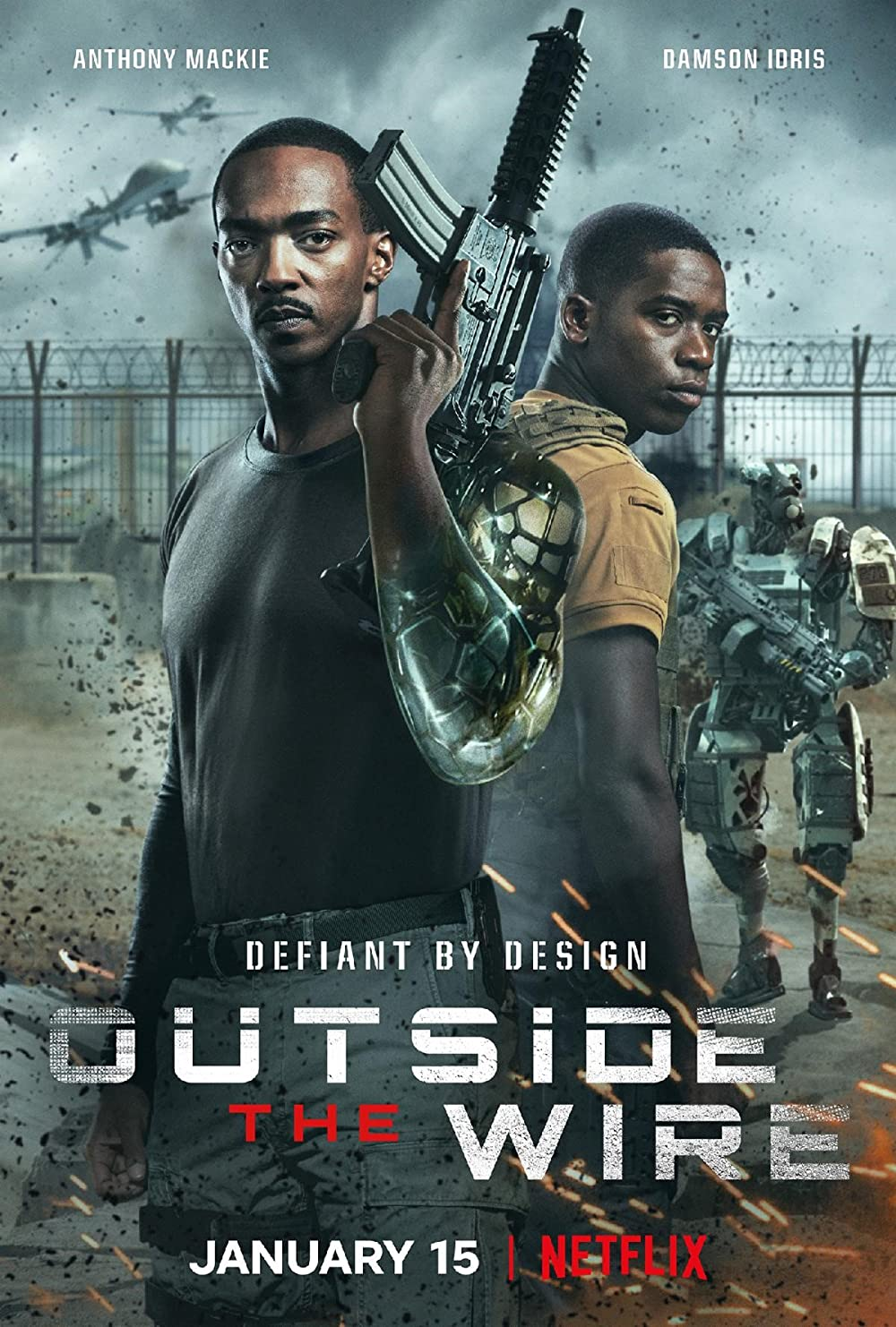 Outside the Wire (2021) Hindi Dubbed Movie 720p HDRip AAC