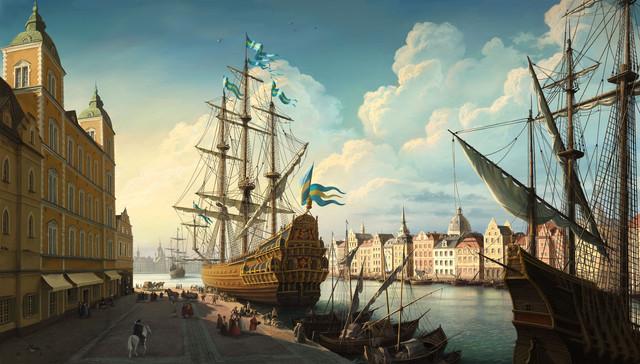 General 3000x1709 ship artwork Sweden Stockholm Vasa Stockholm