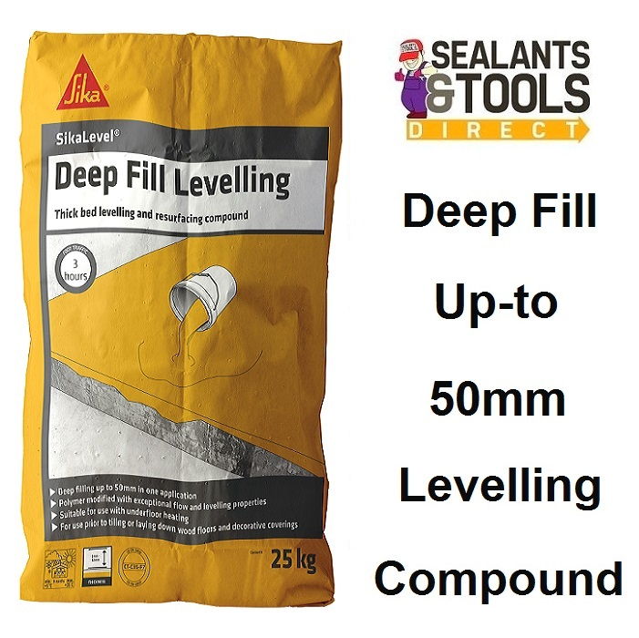 Sika Sikalevel Deep Fill Concrete Floor Level 25kg Levelling