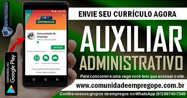 AUXILIAR ADMINISTRATIVO FINANCEIRO COM SALÁRIO R$ 1300,00