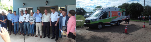 Locales: En una breve visita, pero con una importante cantidad de aportes, el gobernador Gustavo Bordet estuvo en Urdinarrain