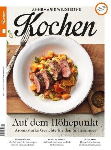 Cover: Annemarie Wildeisens Kochen No 09 August 2021