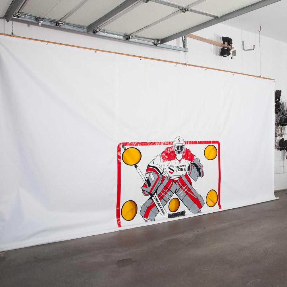 How To Hang A Hockey Shooting Tarp