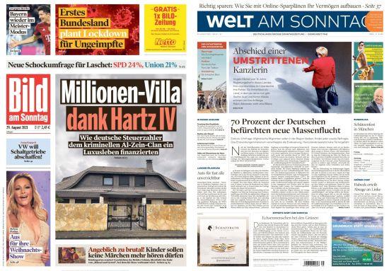 Cover: Bild und Welt am Sonntag No 35 vom 29  August 2021