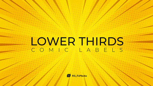 Lower Thirds | Comic Labels 31714120 - Project for After Effects (Videohive)