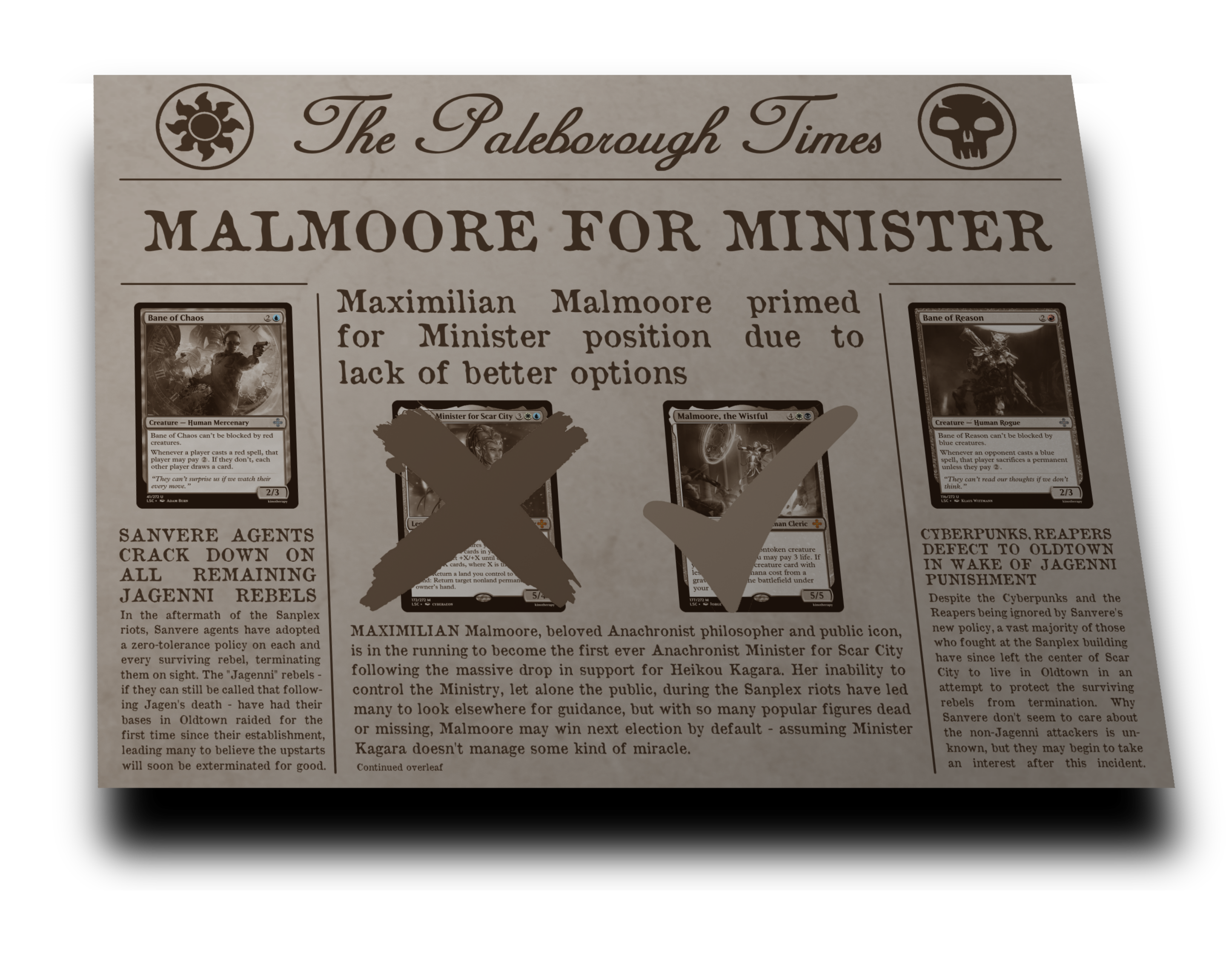 The Paleborough Times Aftermath