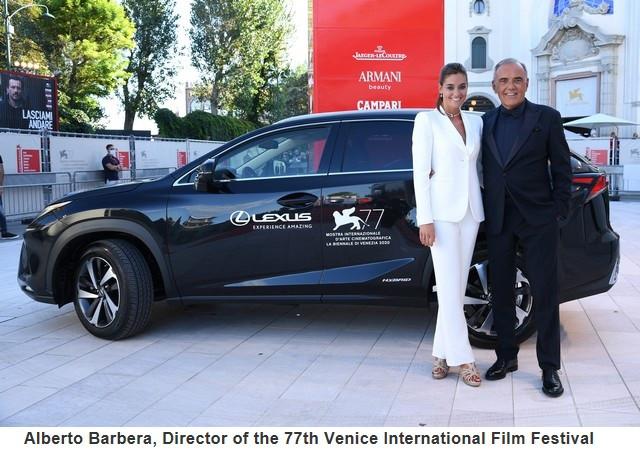 Lexus, voiture Officielle du 77e Festival International du Film de Venise Albertobarberadirectorofthe77thveniceinternationalfilmfestival