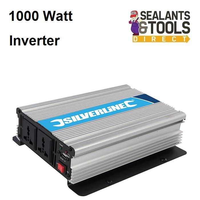 Silverline 12v Battery Power Electric Inverter 1000 Watt 168754