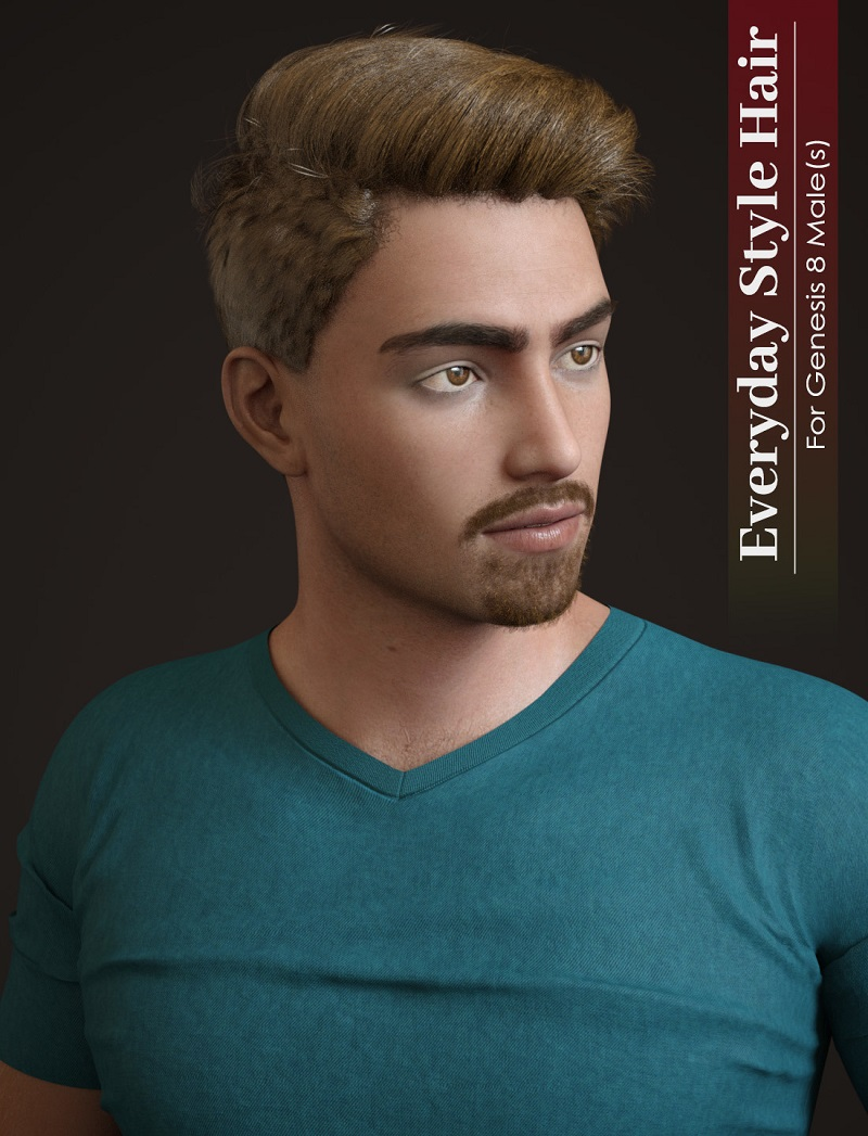 Everyday Hair Style for Genesis 8 Male(s)