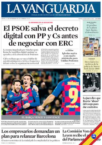 La Vanguardia + Suplementos 28 Noviembre 2019 [Español] [Up-4Ever] La-Vanguardia-Suplementos-28-Noviembre-2019