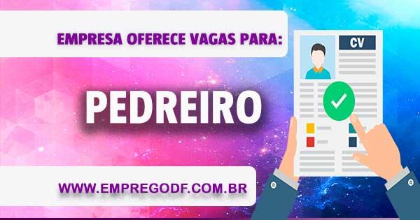 EMPREGO PARA PEDREIRO
