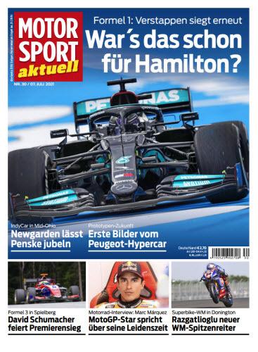 Cover: Motorsport Aktuell Magazin No 30 vom 07  Juli 2021