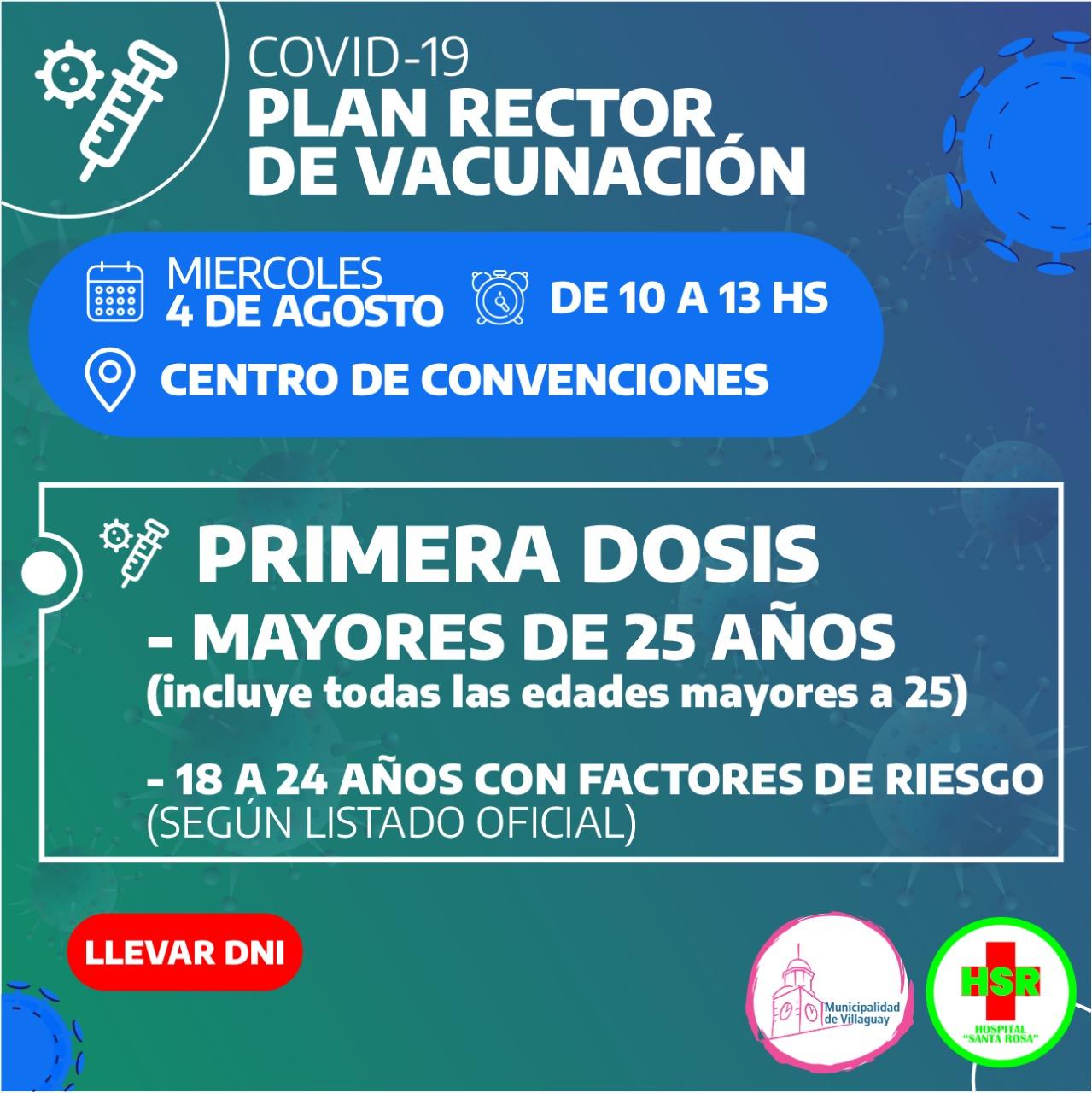 Covid-19: Se inicia hoy la vacunación de personas desde los 25 años