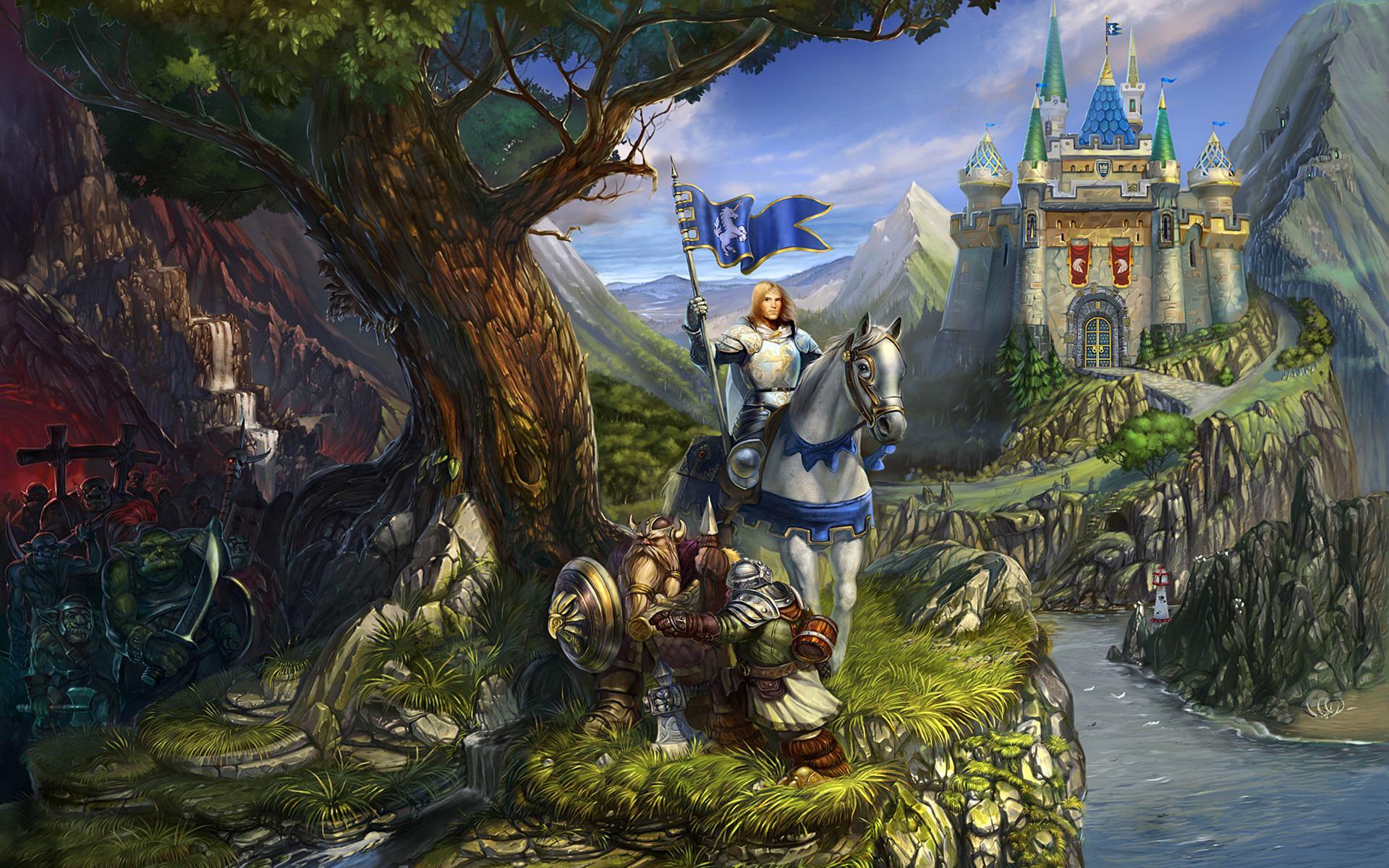 Kings bounty game art logo