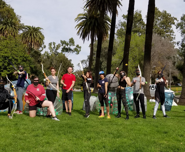 Team building activity in Los Angeles with Archery Tag at Elysian Park