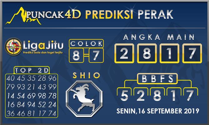 PREDIKSI TOGEL PERAK PUNCAK4D 16 SEPTEMBER 2019
