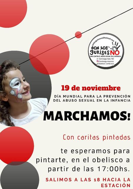 """ONG """"Con los Gurises No"""": Dia Mundial para la prevención del abuso en   la Infancia"""