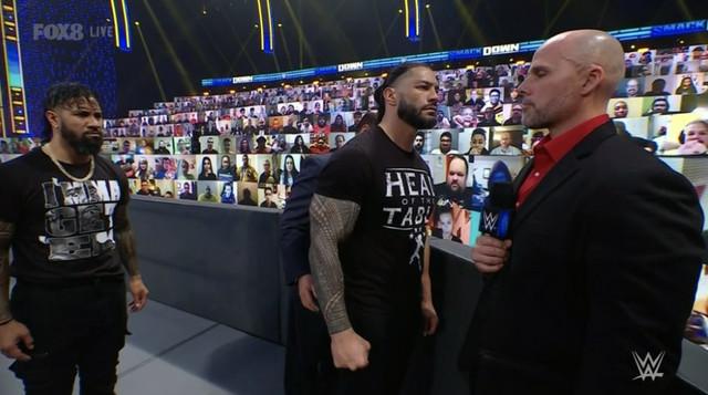 Roman Reigns Paul Heyman amenaza a Adam Pearce SmackDown 12 Febrero