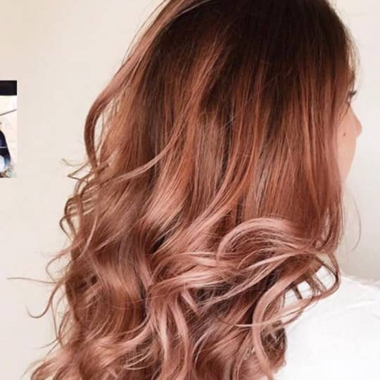 Rose Gold-strawberry-styled-hair