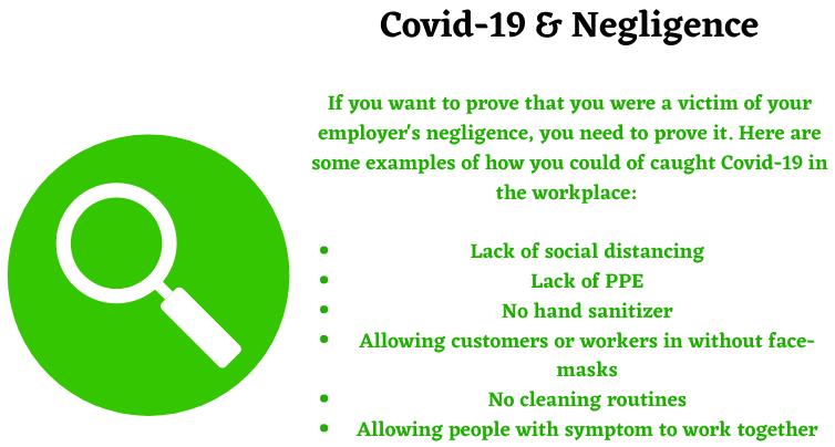 Covid-19 negligence claims