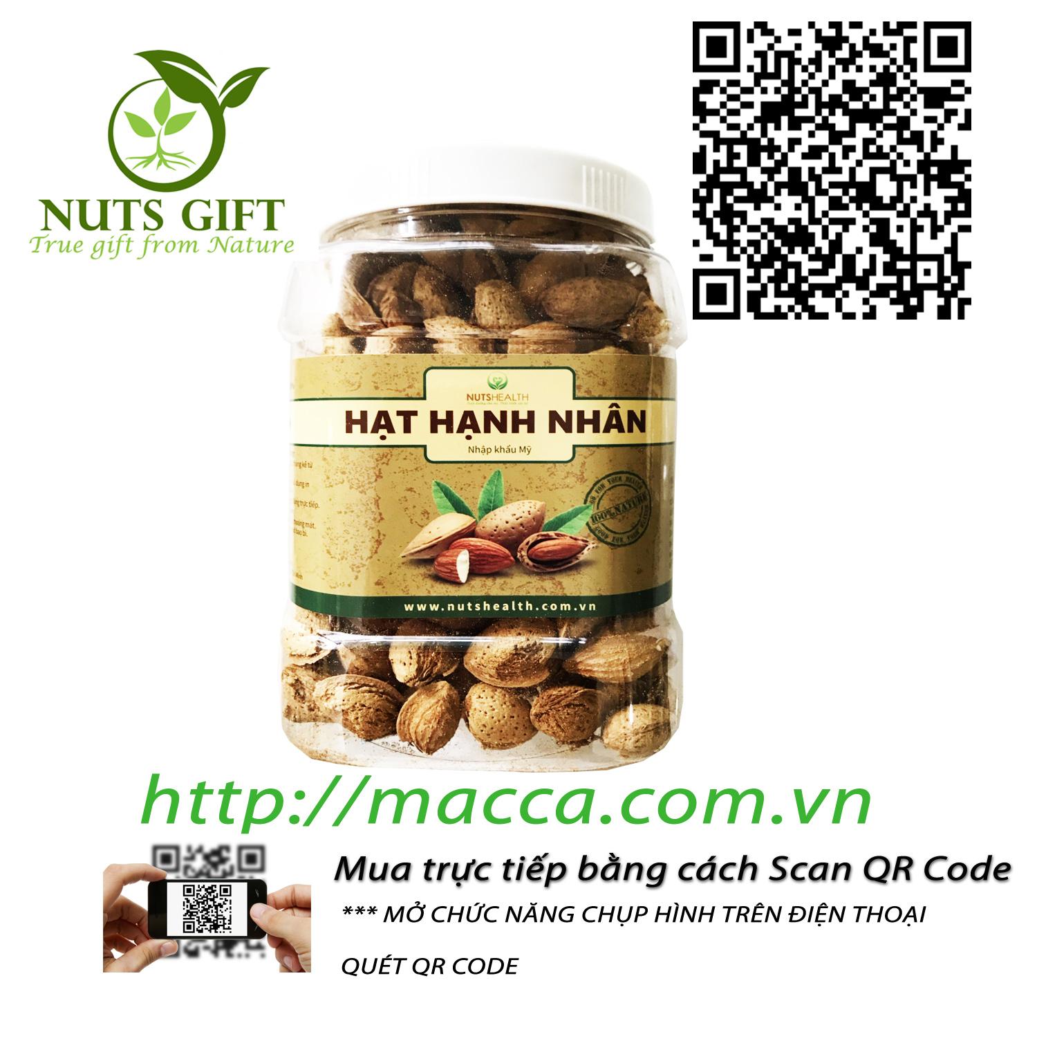 Hạt Hạnh Nhân Nguyên Vỏ – Nutshealth – 500Gr