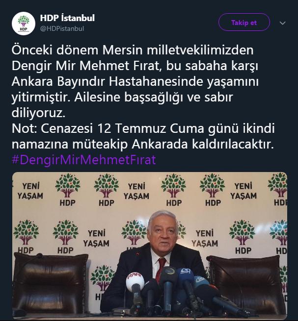 Dengir Mir Mehmet Fırat kimdir, kaç yaşındaydı, neden öldü?