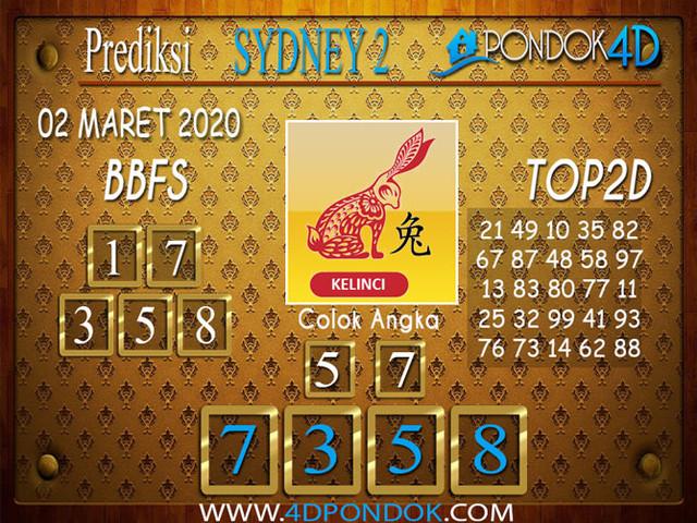 Prediksi Togel SYDNEY 2 PONDOK4D 02 APRIL 2020
