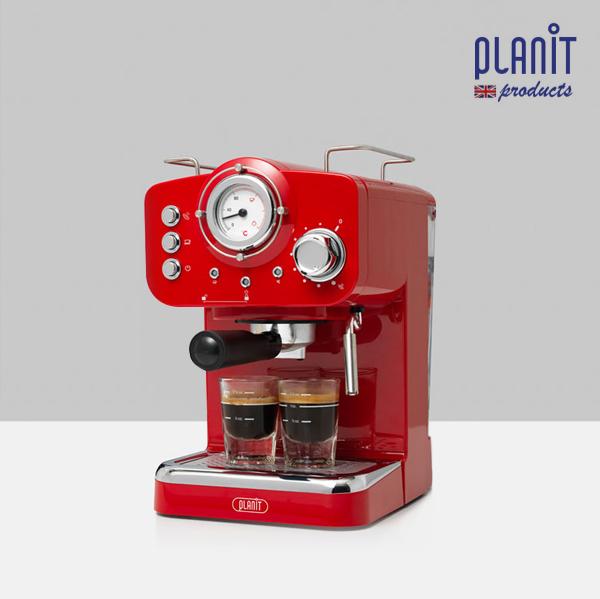 [코드번호:DW0002품절(다른색상有)][LNiT] 플랜잇 가정용 에스프레소 커피머신 홈카페프레소_CM-F15 레드