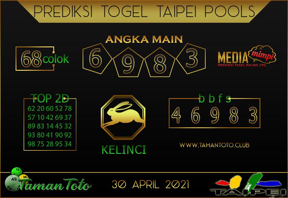 Prediksi Togel TAIPEI TAMAN TOTO 30 APRIL 2021