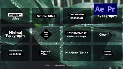 Minimal Clean Titles [Ae] 32115703 - Project for After Effects (Videohive)