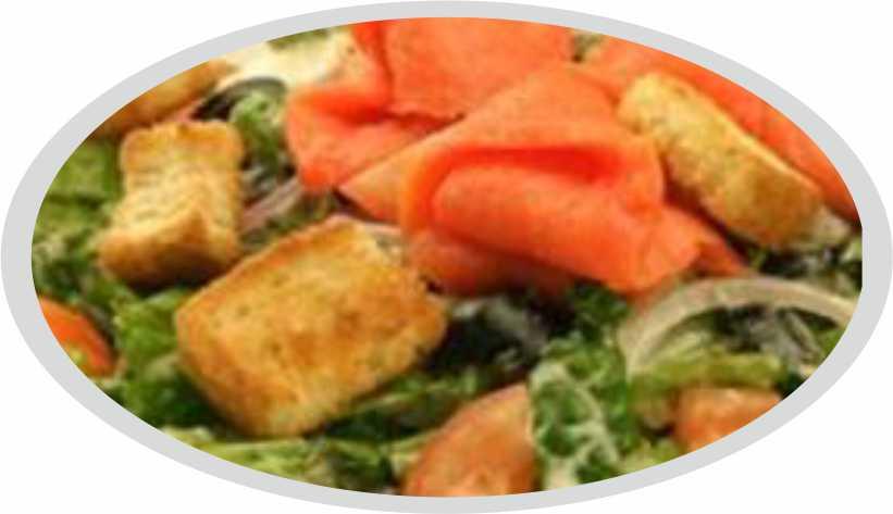 Smoked salmon fish ceaser salad