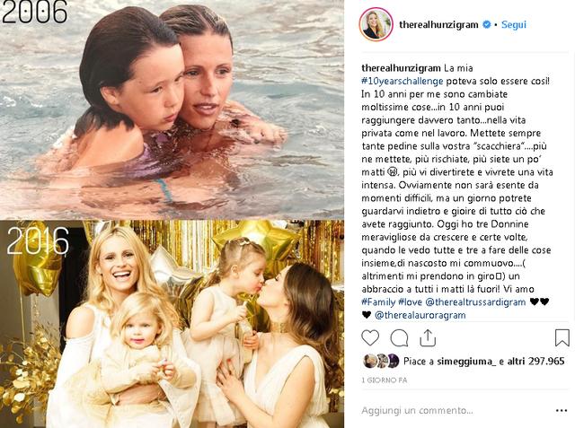 Il messaggio di Michelle Hunziker per le sue figlie